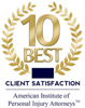10 Best American Institute of Personal Injury Attorneys for Client Satisfaction Winner