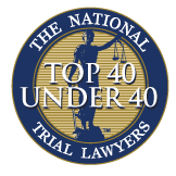 The National Trial Lawyers Top 40 Under 40 Award to Tusler Law